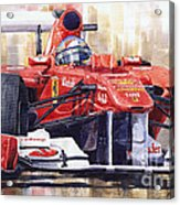 Ferrari 150 Italia Fernando Alonso F1 2011  Acrylic Print by Yuriy  Shevchuk