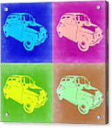 Fiat 500 Pop Art 2 Acrylic Print by Naxart Studio