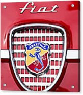 Fiat Emblem 2 Acrylic Print by Jill Reger