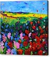 Field Flowers Acrylic Print by Pol Ledent