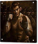 Fight Acrylic Print by Mark Zelmer