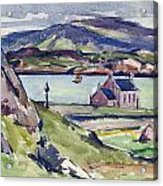 Figure And Kirk   Iona Acrylic Print by Francis Campbell Boileau Cadell
