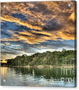 Fingers Of Flame.  Sunset Acrylic Print by Geoff Childs