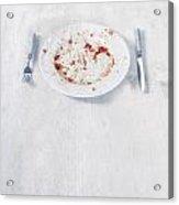 Finished Plate Acrylic Print by Joana Kruse