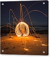 Fire Ball Acrylic Print by Tin Lung Chao