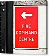 Fire Command Centre Acrylic Print by Tom Gowanlock