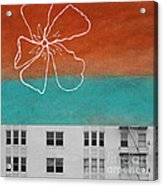 Fire Escapes Acrylic Print by Linda Woods