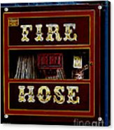 Fire Hose Acrylic Print by Cheryl Young