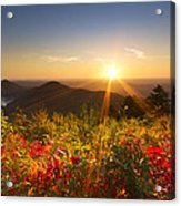 Fire On The Mountain Acrylic Print by Debra and Dave Vanderlaan