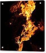 Fire Acrylic Print by Pedro Correa