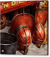 Fireman - Hats - I Volunteered For This  Acrylic Print by Mike Savad