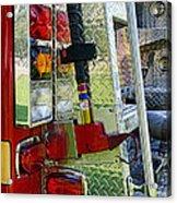 Fireman Keep Back 300 Feet Acrylic Print by Paul Ward