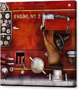 Fireman - Old Fashioned Controls Acrylic Print by Mike Savad