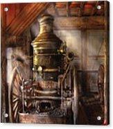 Fireman - Steam Powered Water Pump Acrylic Print by Mike Savad