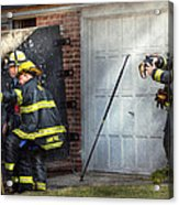 Fireman - Take All Fires Seriously  Acrylic Print by Mike Savad