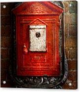 Fireman - The Fire Box Acrylic Print by Mike Savad
