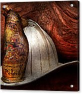 Fireman - The Fire Chief Acrylic Print by Mike Savad