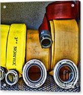 Fireman - The Fire Hose Acrylic Print by Paul Ward