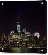 Fireworks 4th Of July Acrylic Print by D Plinth
