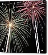Fireworks 5 Acrylic Print by Andrew Nourse