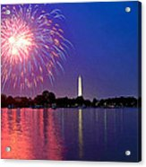 Fireworks Across The Potomac Acrylic Print by Steven Barrows