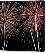 Fireworks Acrylic Print by Andrew Nourse