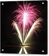 Fireworks At Cooks Acrylic Print by Donnie Freeman