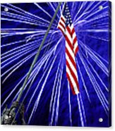 Fireworks At Iwo Jima Memorial Acrylic Print by Francesa Miller