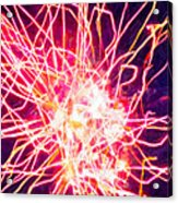 Fireworks At Night 6 Acrylic Print by Lanjee Chee