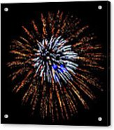 Fireworks Exposion Acrylic Print by Gene Walls