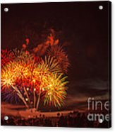 Fireworks Finale Acrylic Print by Robert Bales