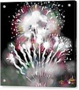 Fireworks On High School Hill Acrylic Print by Jean Pacheco Ravinski