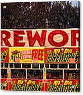 Fireworks Acrylic Print by Ron Regalado