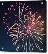 Fireworks Series Xiii Acrylic Print by Suzanne Gaff