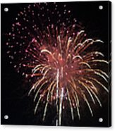 Fireworks Series Xiv Acrylic Print by Suzanne Gaff