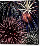 Fireworks Spectacular Acrylic Print by Jim and Emily Bush