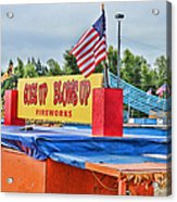 Fireworks Stand Acrylic Print by Cathy Anderson