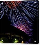 Fireworks Acrylic Print by Steve Myrick