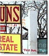 First Guns Then Land Acrylic Print by Joe Jake Pratt