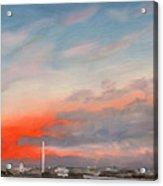 First Inaugural Sunrise From Iwo Jima Memorial Acrylic Print by William Van Doren