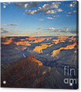 First Light On The Colorado Acrylic Print by Mike  Dawson