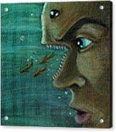 Fish Mind Acrylic Print by John Ashton Golden
