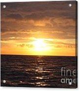 Fishing Into The Sunrise Acrylic Print by John Telfer