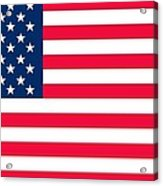 Flag Of The United States Of America Acrylic Print by Anonymous