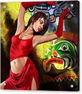 Flamenco Dancer 010 Acrylic Print by Catf