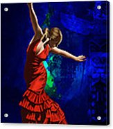 Flamenco Dancer 014 Acrylic Print by Catf