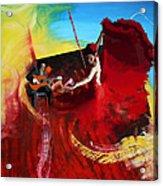 Flamenco Dancer 016 Acrylic Print by Catf
