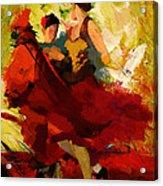 Flamenco Dancer 019 Acrylic Print by Catf