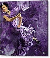 Flamenco Dancer 023 Acrylic Print by Catf