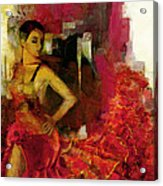 Flamenco Dancer 024 Acrylic Print by Catf
